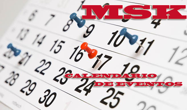Calendario de eventos MSK