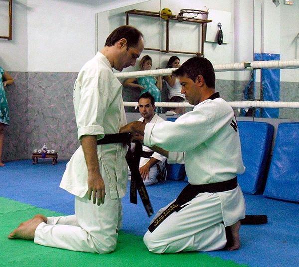 Entrega cinturón negro Fernando