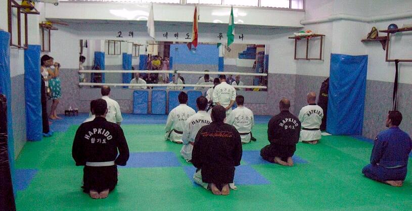 Exámenes de grado (hapkido) en club Koryo Lucena